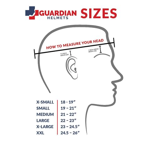 Guardian Helmet Sizing Chart
