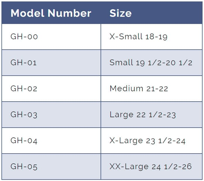 Guardian Helmets Sizing Chart